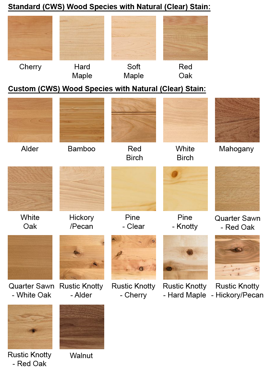 Please Also Note, That The Matching Interior Option Is Not Available For  Custom Species Wood Cabinets.)