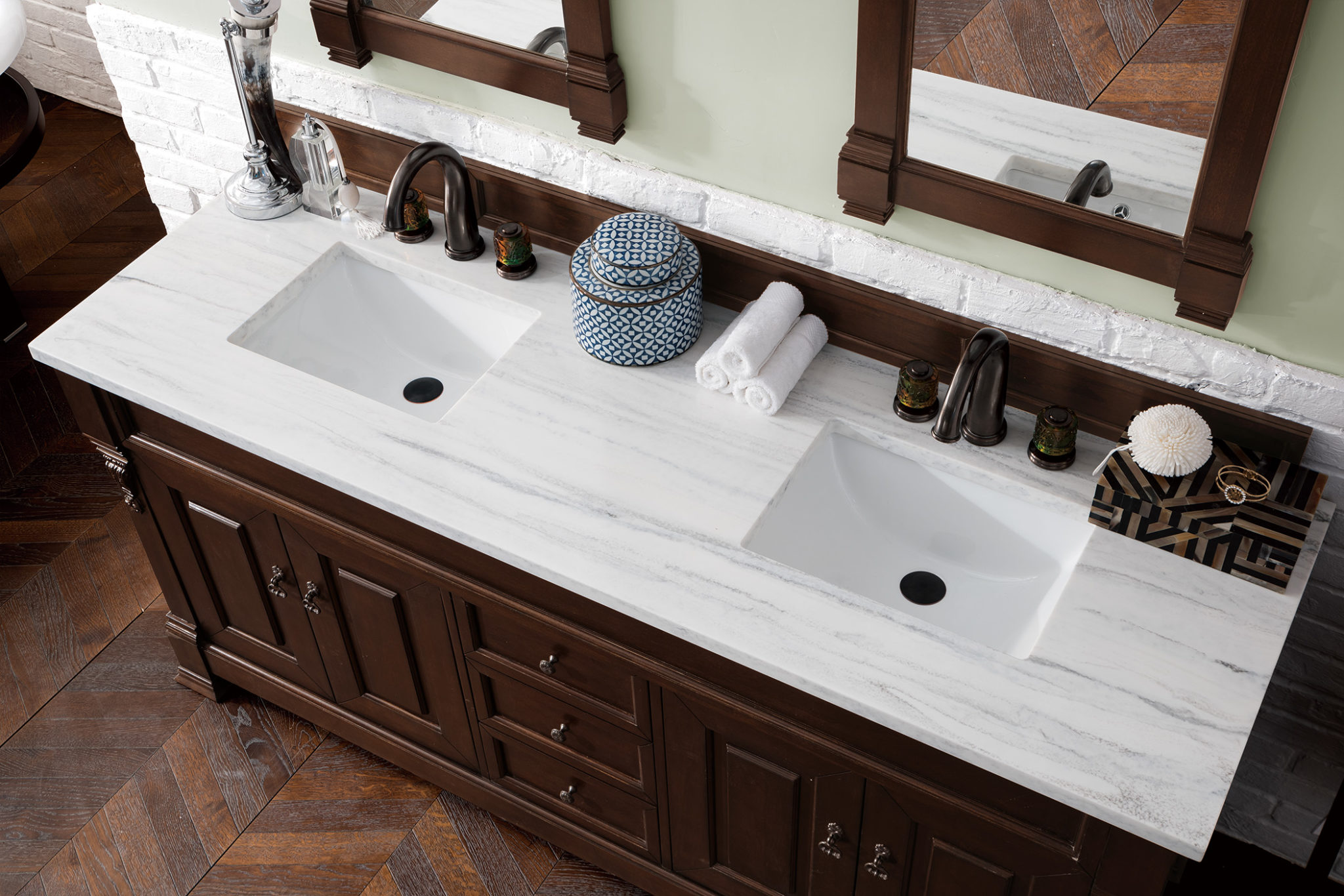Brookfield 72 Quot Burnished Mahogany Double Vanity With 3 Cm