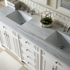 Cottage White with 3 CM Arctic Fall Solid Surface Top