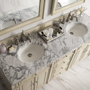Vintage Vanilla with 4 CM Carrara White Marble Top