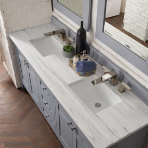 Silver Gray with 3 CM Arctic Fall Solid Surface Top