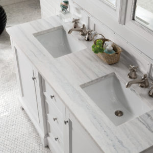 Bright White with 3 CM Arctic Fall Solid Surface Top