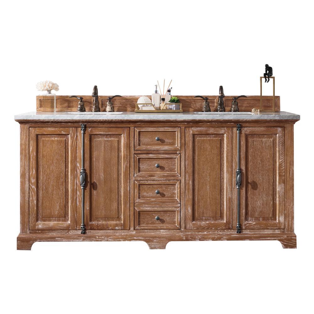 Providence 72u2033 Double Vanity Cabinet, Driftwood