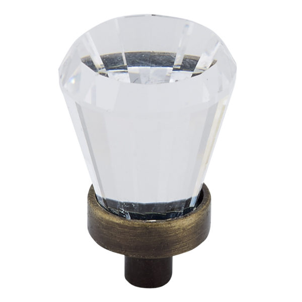 Traditional Swarovski Crystal and Metal Knob - 276B