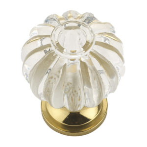 Eclectic Acrylic and Metal Knob - 4035