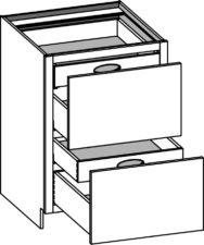 Base 2 Drawer with Roll Outs