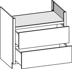 Base Range Top - 2 Drawer