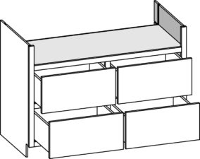 Base Range Top - Four Drawer