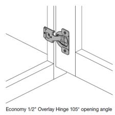Economy 1/2″ Overlay Hinge