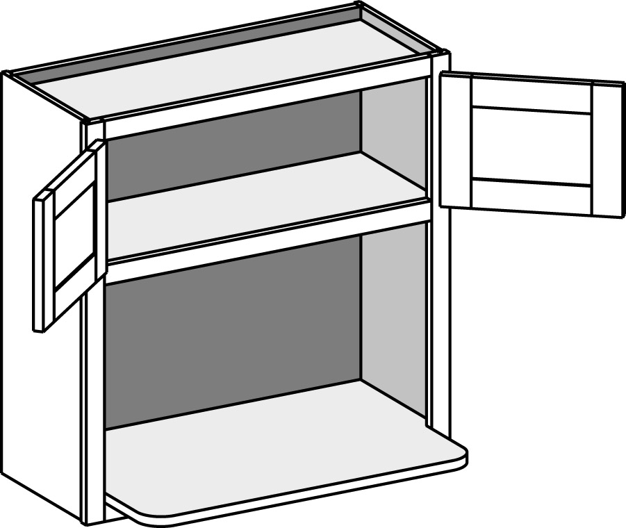 Wall Microwave Shelf W Doors