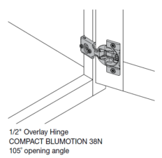 Blum 1/2″ Overlay Soft Close Hinge