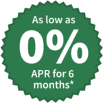 As low as 0% APR for 6 months*