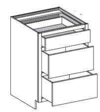 Base 3 Drawer – Equal Height Bottom Drawers