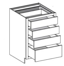 Base Cabinet – 4 Drawers