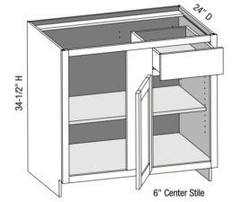 Base Blind Corner Cabinet Left