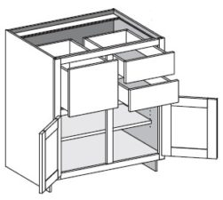 Base Combo Three Drawer Left or Right w/Center Stile