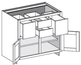Base Combo Four Drawer