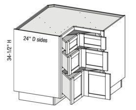 Base Corner Pie Cut 3 Drawer