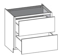 Base Cook Top Two Drawer