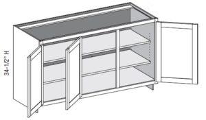 Base Full Door w/Two Center