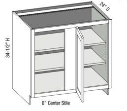 Base Full Door Blind Corner Cabinet Left