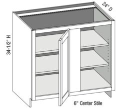 Base Full Door Blind Corner Cabinet Right