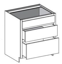 Base Range Three Drawer