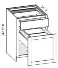 Base Cabinet - Base w/ Trash Can Pull-Out