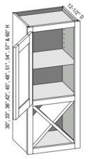 Wall One Door X Cube Cabinet