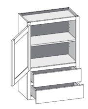 Wall Cabinet w/2 Drawers – Single Door