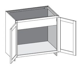 Vanity Base Sink Full Door w/ Butt Doors