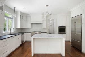 White painted RTA kitchen cabinets