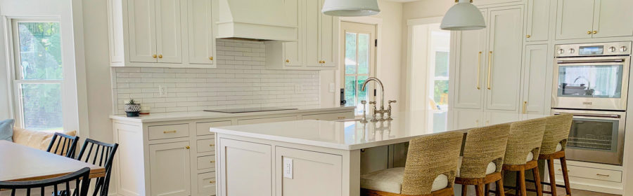 kitchen with painted RTA cabinets