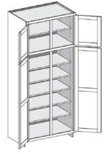 Tall Cabinet – Deep (24″) w/ Double Doors