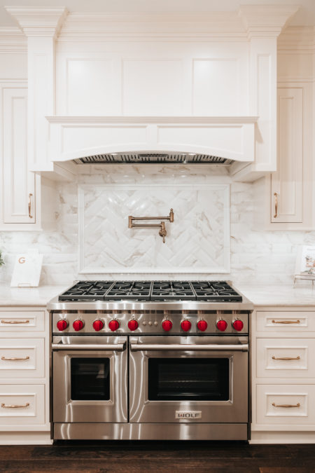 Beaded Inset, CRP-10797 doors/drawers, Crown: 10 inch Slab frieze, Colonial 10, 1238 & Base Cap 860, Crystal White