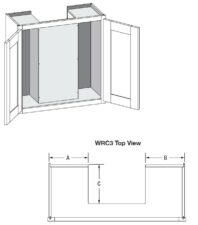 Wall w/ 3 Sided Recessed Back